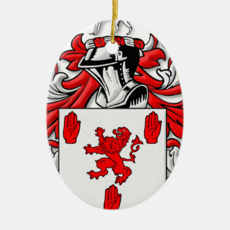 McGuckin Coat of Arms Ceramic Oval Decoration