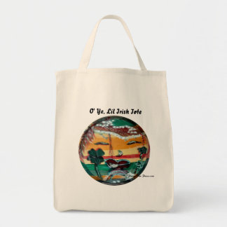 MClairArt's Funny Sun Faces St. Patrick's Day Gift Grocery Tote Bag