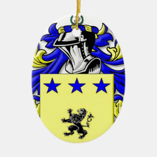 McMullen Coat of Arms Ceramic Oval Decoration