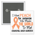 Means The World To Me 2 Endometrial Cancer 15 Cm Square Badge