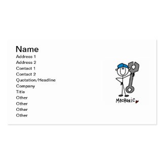 Mechanic With Wrench Stick Figure Pack Of Standard Business Cards
