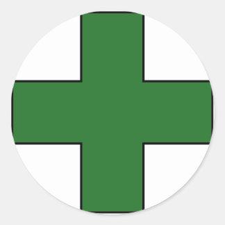 Medical Cross Medical Life Saving Guard Symbol Round Sticker