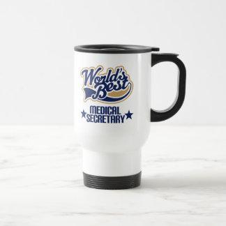 Medical Secretary  Gift (Worlds Best) Stainless Steel Travel Mug