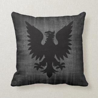 Medieval Black Velvet Cushion