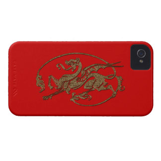 Medieval Dragon Antique Art Designer Gift iPhone 4 Case-Mate Case