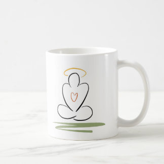 Meditation Man Zen-Inspired Artwork Standard-Size Basic White Mug