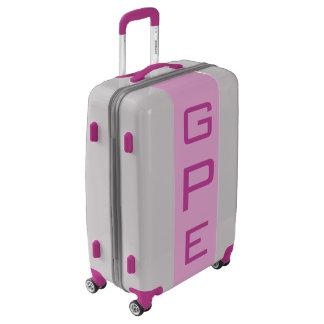 MEDIUM Silver + Light Purple Monogrammed Luggage