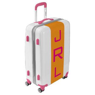 MEDIUM White+Orange+Pink Monogrammed Luggage