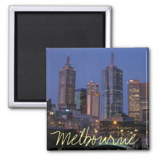 Melbourne Australia at night photography magnet