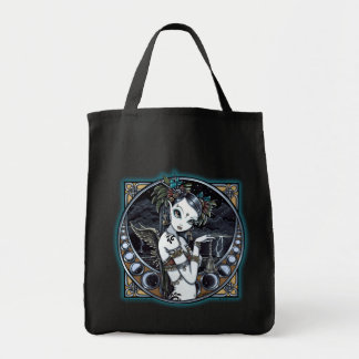 """Melita"" Gothic Tribal Fusion Dancer Canvas Tote Grocery Tote Bag"