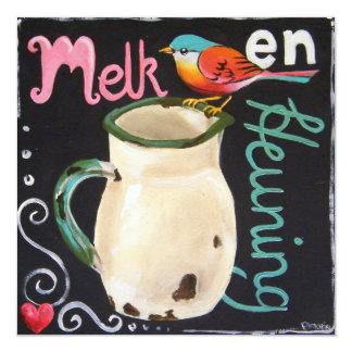 Melk en Heuning 13 Cm X 13 Cm Square Invitation Card