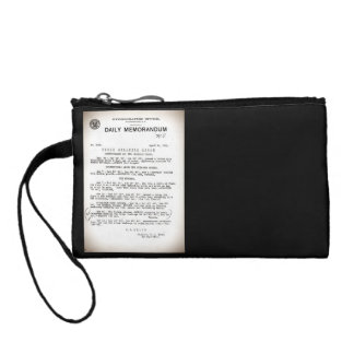 Memo from Hydrographic Office Titanic Disaster Coin Purse