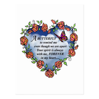 Memorial Butterfly Poem Postcard
