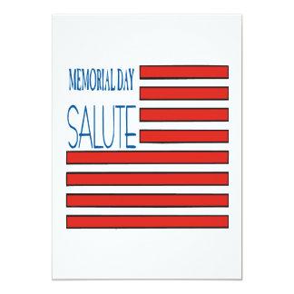 Memorial Day Salute 13 Cm X 18 Cm Invitation Card