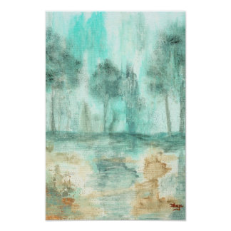 Memory,Abstract Landscape Trees Art Painting Poster