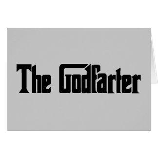 """Men's Fart Humor Gifts """"The Godfarter"""" Greeting Card"""