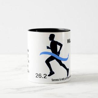Men's Marathon Blue Ribbon Two-Tone Mug