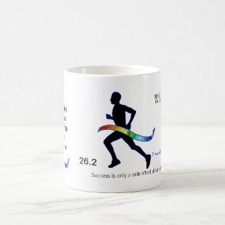 Men's Marathon with Puzzle Ribbon Basic White Mug