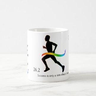Men's Marathon with Rainbow Ribbon Basic White Mug