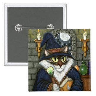 Merlin Magician Wizard Cat Magic Sorcerer Button