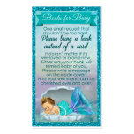 Mermaid Baby Book Request Inserts Baby Shower #130 Pack Of Standard Business Cards