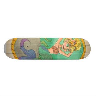 Mermaid Lady design skateboard