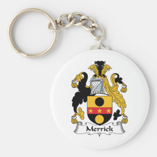 Merrick Family Crest Basic Round Button Key Ring