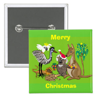 Merry Christmas 15 Cm Square Badge