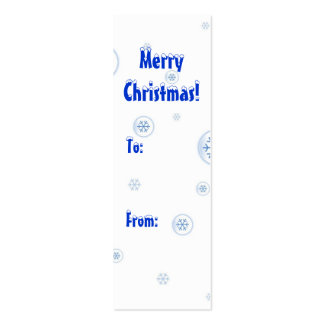 Merry Christmas gift tag Pack Of Skinny Business Cards