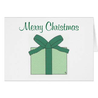 merry christmas green gift note card