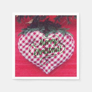 Merry Christmas Heart Paper Napkins