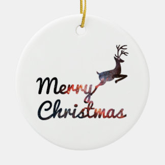 Merry Christmas holiday  Circle Ornament