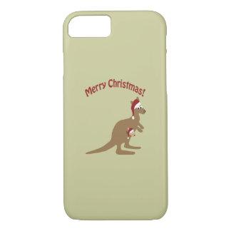Merry Christmas Kangaroos iPhone 7 Case