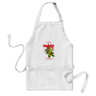 Merry Christmas mistletoe Standard Apron