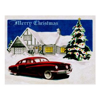 MERRY CHRISTMAS v.19 (vintage car design) ~ Postcard