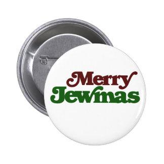 Merry Jewmas 6 Cm Round Badge