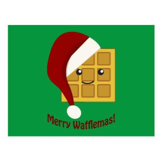 Merry Wafflemas Christmas Waffle Postcard