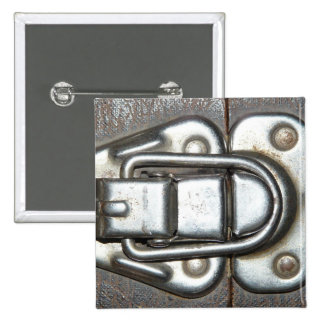 Metal Grunge Latch 15 Cm Square Badge