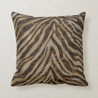 Metallic Zebra Animal Print bronze gold copper tan Throw Cushions