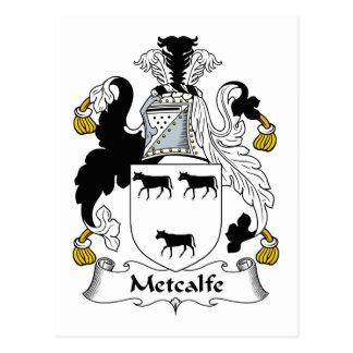 Metcalfe Family Crest Postcard