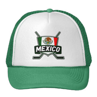 Mexico Ice Hockey Flag Cap