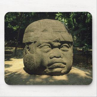 Mexico, Villahermosa, giant Olmec head, La Venta Mouse Pad