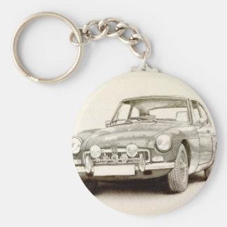 MG MGB MkII Basic Round Button Key Ring