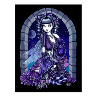 """Mia"" Twilight Moon Fairy & Kitty Postcard"