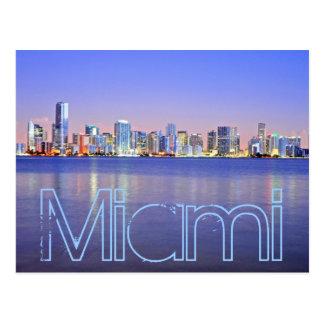 Miami, the Magic City at dawn Postcard