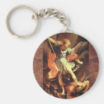 Michael the Archangel Basic Round Button Key Ring
