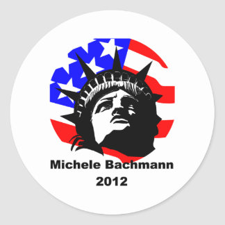 michele bachmann round sticker