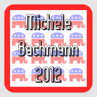 Michele Bachmann Square Sticker