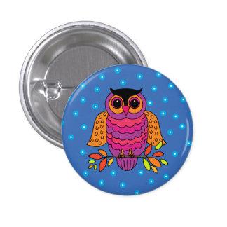Midnight Autumn Owl 3 Cm Round Badge