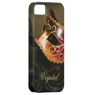 Midnight Masquerade Gold Fantasy Iphone Five Case